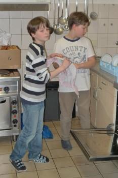 Freiwilliger (!!!) Küchendienst