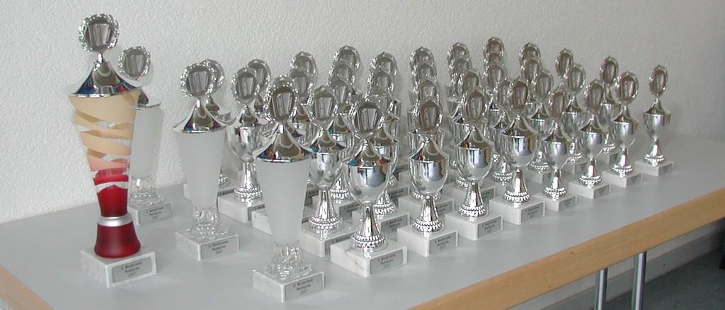 Pokalparade beim 6. Waldbronner Musikpreis 2007
