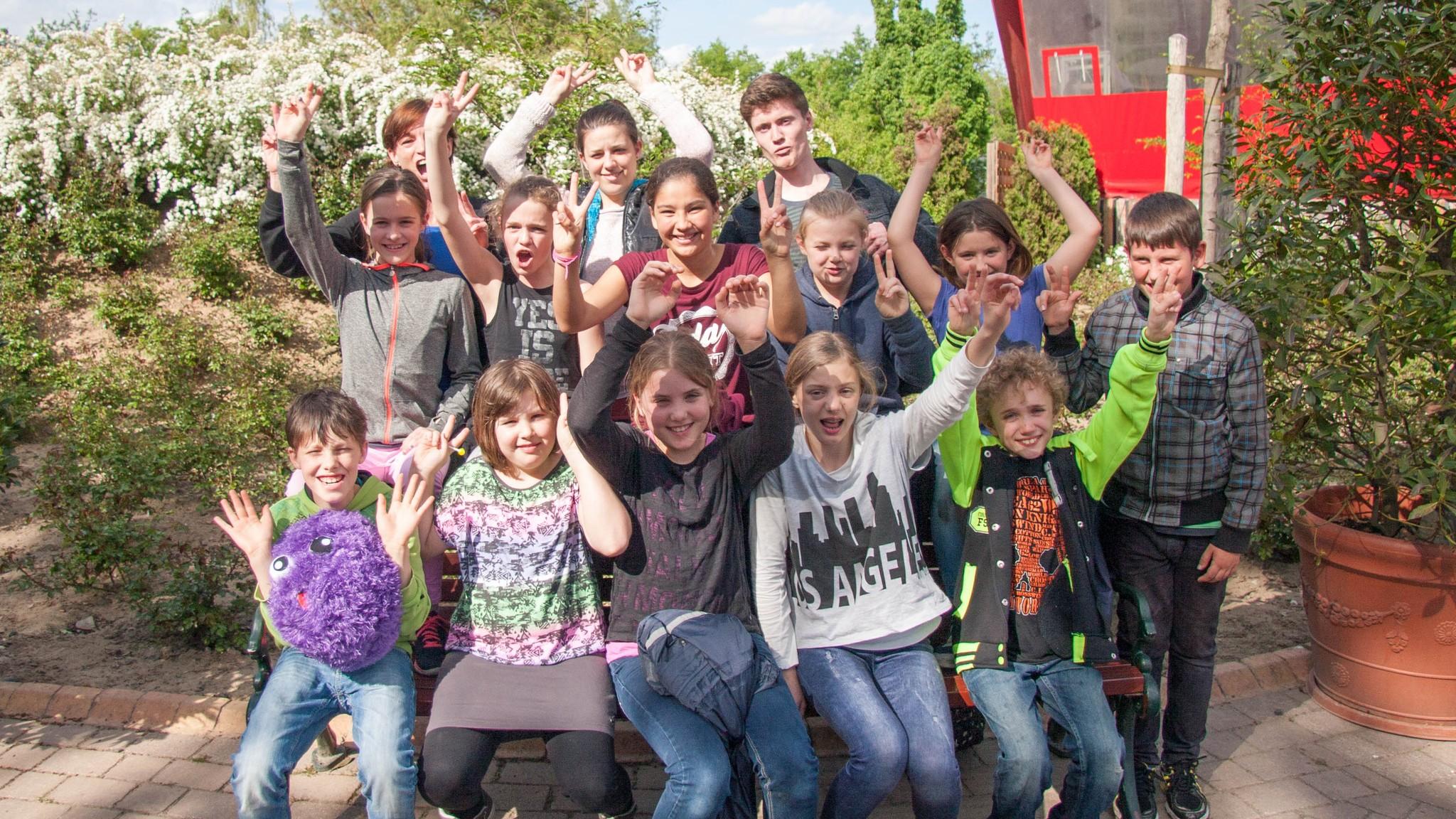 Die Teilnehmer beim Ausflug in den Holidaypark 2015