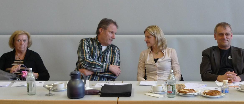 Wolfgang Pfeffer im Kreise der Jury beim 8. Waldbronner Musikpreis 2013