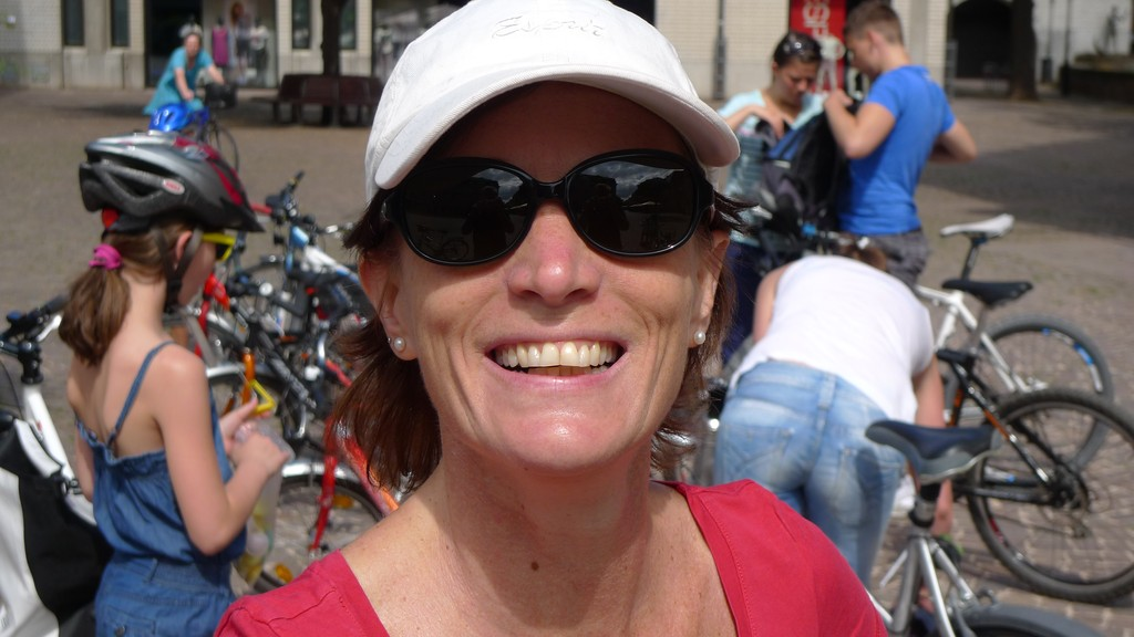 Christiane geht gerne Fahrrad fahren