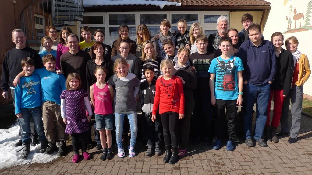 Teilnehmer von AccoMusica beim Probenwochenende in Bühl-Neusatzeck