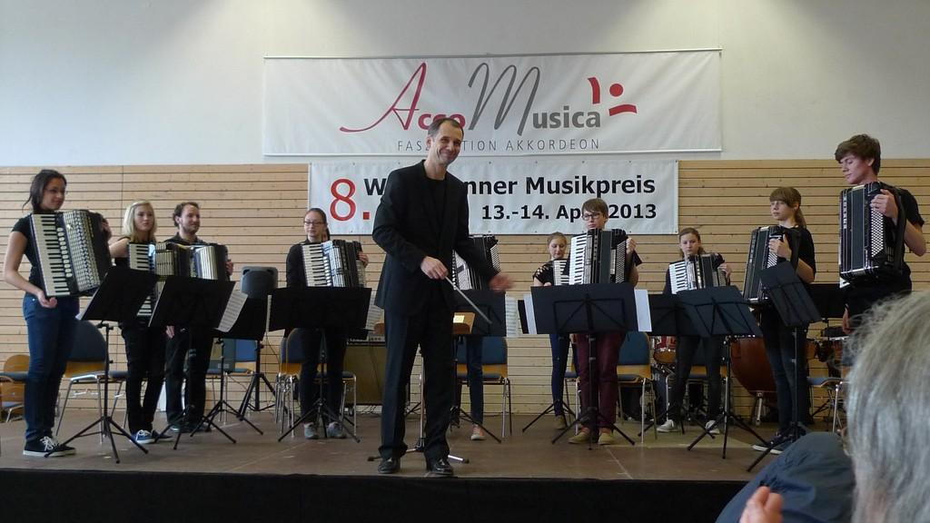 Jugendorchester nach dem Vortrag