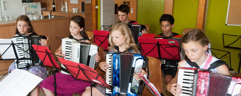 Auch im Freizeitwochenende gibt es eine Orchesterprobe