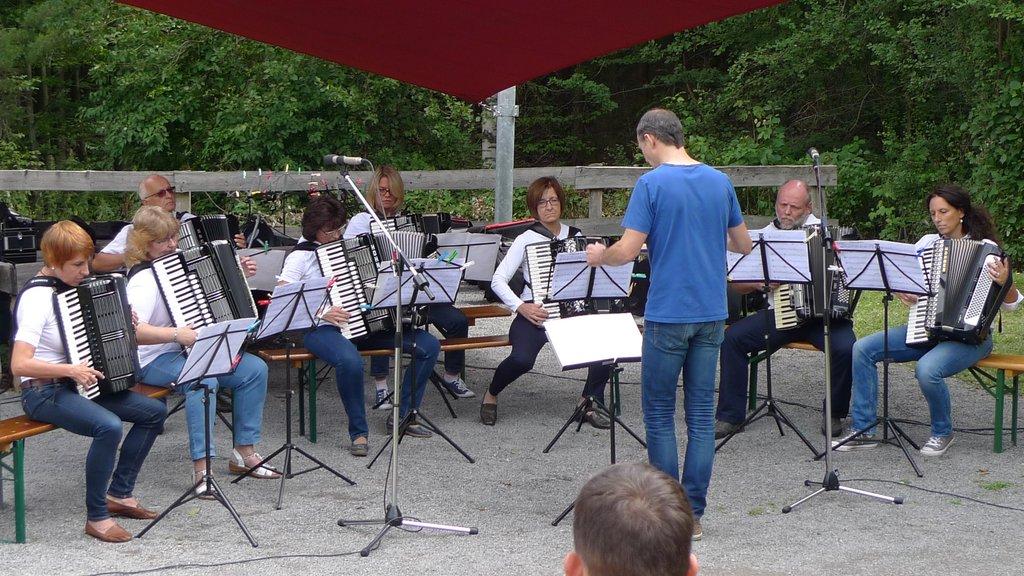 Das 2. Orchester hat nicht nur viel Spaß, sondern macht auch musikalisch eine gute Figur