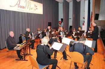 """Das 1. Orchester und das AE Malsch spielen """"Inmortal - in memoriam A.P."""" von Hans Boll (Foto: Rüdiger Homberg)"""